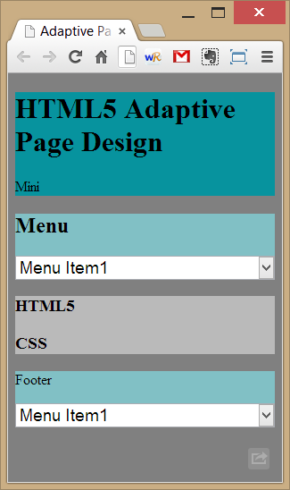 Diseño para pantallas mini.