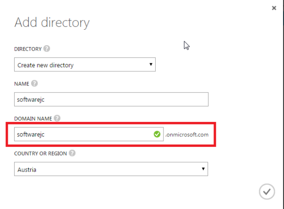Create Microsoft Azure Active Directory
